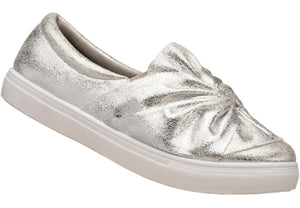 Silver Bow Sneaker for ladies