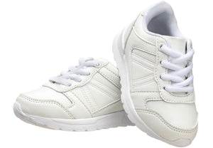 Boys' Lace-up Trainer in white for boys