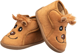 Lion Bootie in tan for toddler boys