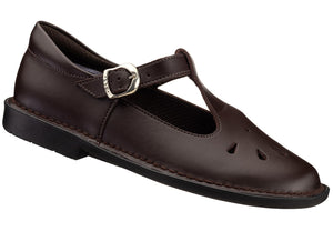 Brown T-Bar School Shoe