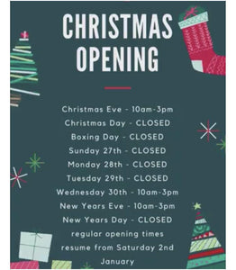 Christmas Opening Times - Oscar & Me