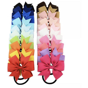 Grosgrain Ribbon Bow Hair Bobble | Oscar & Me - Children's Clothing
