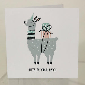This is Your Day Llama Card | Oscar & Me - Children's Clothing