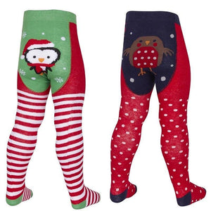 Baby Girls Christmas Patch Panel Tights