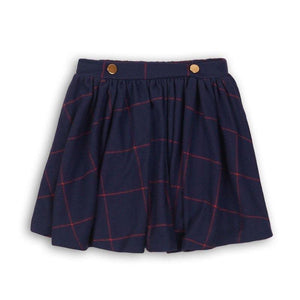 Baby Girls Brushed Checked Skirt