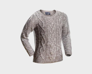 Boys Grey Cable Knit Jumper | Oscar & Me - Children's Clothing