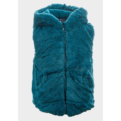 Baby Girls Faux Fur Hooded Gilet