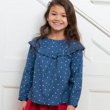 Girls Spotty Frill Sleeve Blouse | Oscar & Me | Baby & Children's Clothing & Accessories