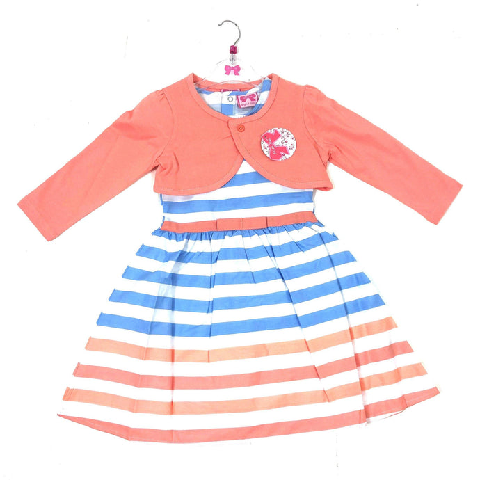 Girls Striped Dress and Bolero | Oscar & Me - Children's Clothing