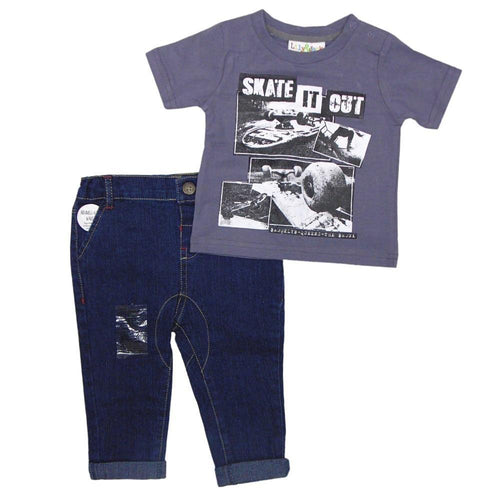 Baby Boys Skate T-Shirt & Jeans Outfit | Oscar & Me - Children's Clothing