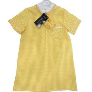 Yellow Gingham Dress | Oscar & Me - Children's Clothing