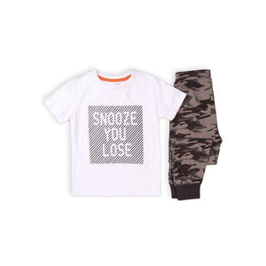 Boys Snooze You Lose Pyjama Set | Oscar & Me | Baby & Children's Clothing & Accessories