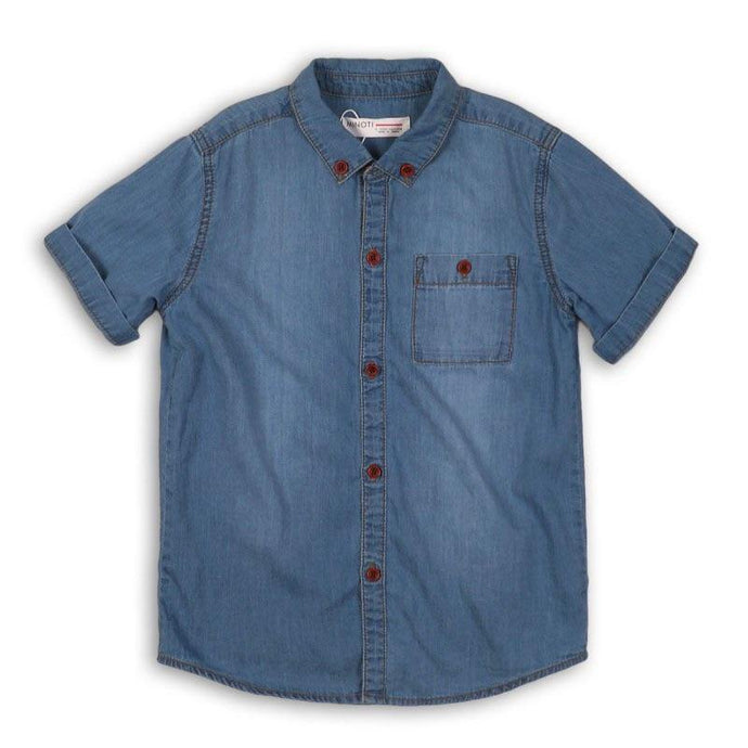 Boys Sunbleached Denim Shirt | Oscar & Me - Children's Clothing