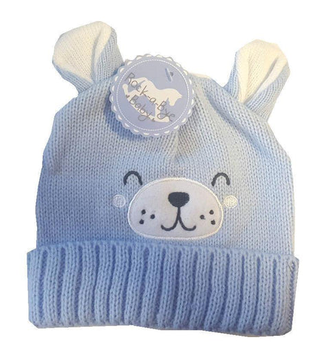 Baby Boys Teddy Face Knitted Hat - Oscar & Me