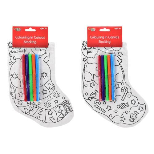 Colour in Canvas Stocking