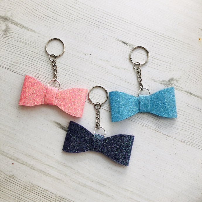 Sparkly Bow Key Rings | Oscar & Me - Children's Clothing