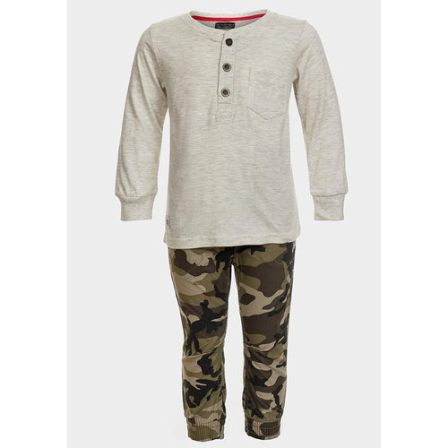 Baby Boys Top & Camo Trouser Outfit