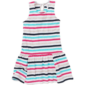 Girls Sleevless Dress - Stripe | Oscar & Me - Children's Clothing
