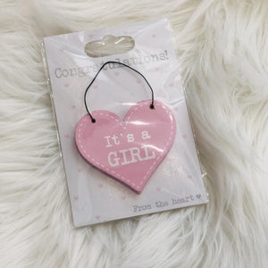 It's a Girl Heart Hanger | Oscar & Me - Children's Clothing