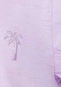 Baby Girls Frill Sleeve Lilac T-shirt | Oscar & Me - Children's Clothing