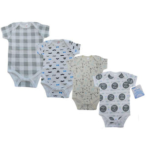 Baby Boy Printed Short Sleeved Bodysuit | Oscar & Me - Children's Clothing