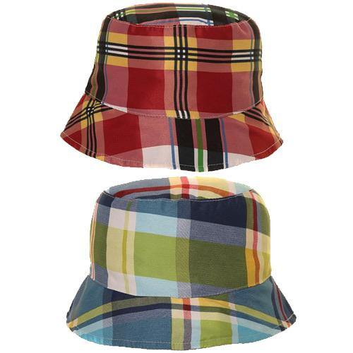 Boys Checkered Cotton Sun Hat | Oscar & Me - Children's Clothing