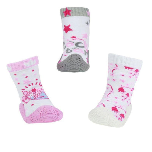 Baby Girls Soled Sneaker Socks | Oscar & Me - Children's Clothing