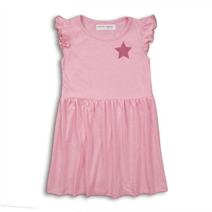 Girls Pink Jersey Dress | Oscar & Me - Children's Clothing
