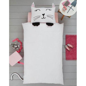 Girls Cat Duvet Cover Set | Oscar & Me - Children's Clothing