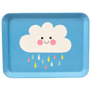Happy Cloud Bamboo Tray - Oscar & Me