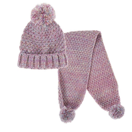 Girls Chunky Knit Hat & Scarf Set | Oscar & Me - Children's Clothing
