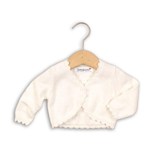 Baby Girls White Knitted Shrug Cardigan | Oscar & Me - Children's Clothing