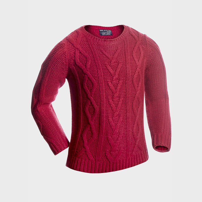 Boys Lava Cable Knit Jumper | Oscar & Me - Children's Clothing