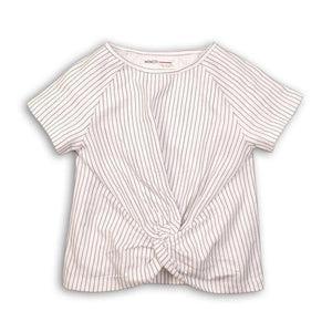Girls Twisted Front Jersey Top | Oscar & Me - Children's Clothing