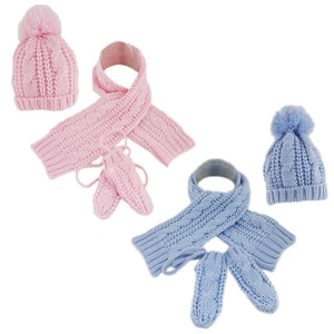 Knitted Hat, Scarf & Mittens Set | Oscar & Me - Children's Clothing