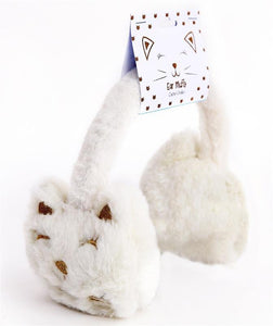 Plush Cat Ear Muffs | Oscar & Me - Children's Clothing