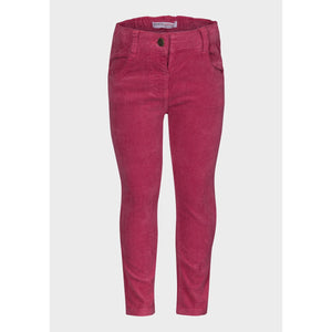 Baby Girls Corduroy Trousers - Mulberry