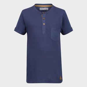 Boys Henley Short Sleeved T-Shirt | Oscar & Me - Children's Clothing