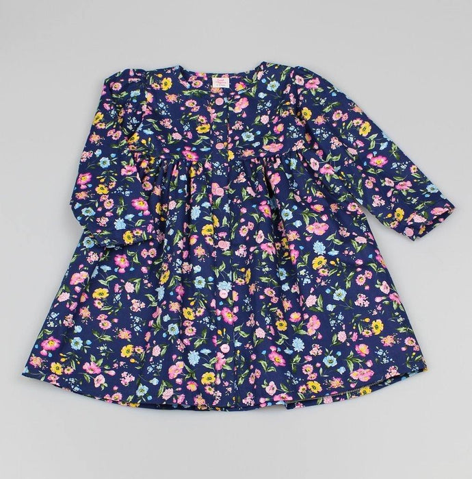 Girls Floral  Buttoned Dress | Oscar & Me | Baby & Children's Clothing & Accessories