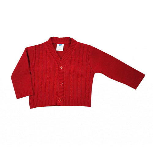 Baby Red Cable Knit Cardigan