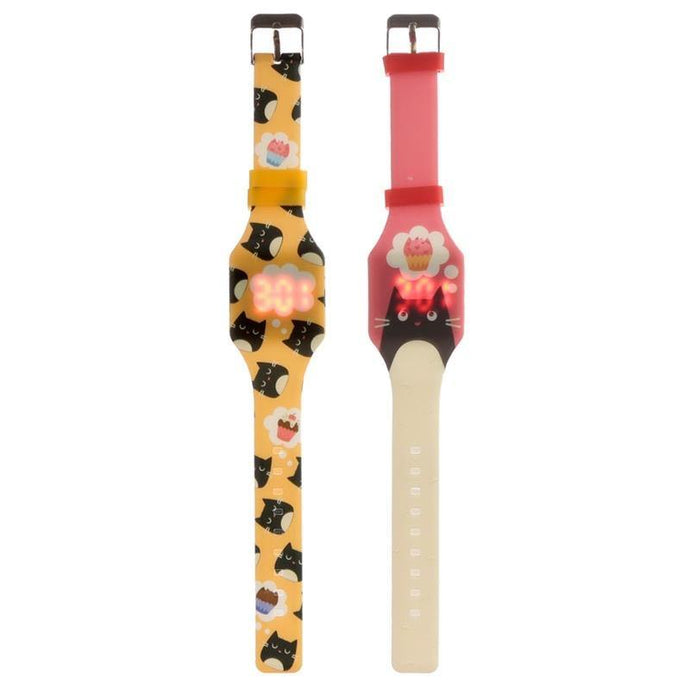 Silcone Cat Watch - 2 assorted | Oscar & Me - Children's Clothing
