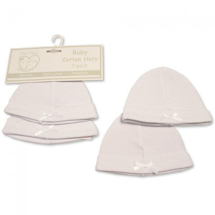 Premature Baby White Hats with Bow | Oscar & Me - Children's Clothing
