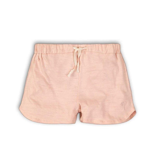 Girls Light Pink Slub Shorts | Oscar & Me - Children's Clothing