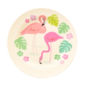 Flamingo Bay Bamboo Plate