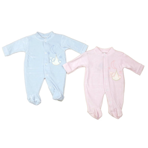 Baby Bunny Velour All in One | Oscar & Me - Children's Clothing