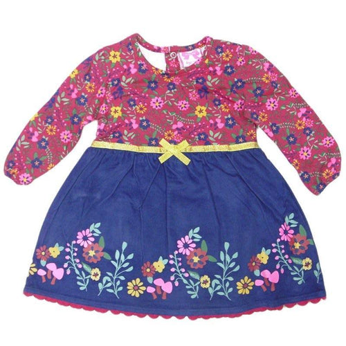 Baby Girls Cord Floral Dress