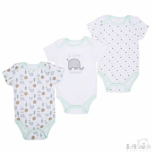 Baby Triple pack Assorted Bodysuits