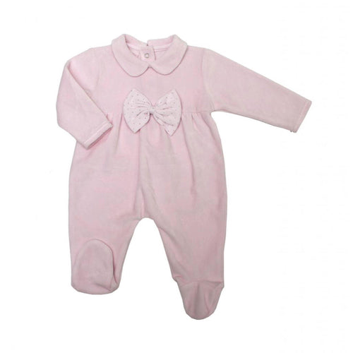 Baby Girls Sparkle Bow All-in-One