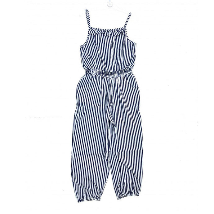 Girls Stripe Jumpsuit - Oscar & Me