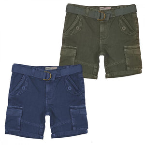 Boys Washed Canvas Short With Belt | Oscar & Me - Children's Clothing